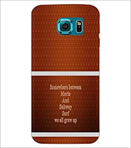 PrintDhaba Quote D-1326 Back Case Cover for SAMSUNG GALAXY S6 (Multi-Coloured)