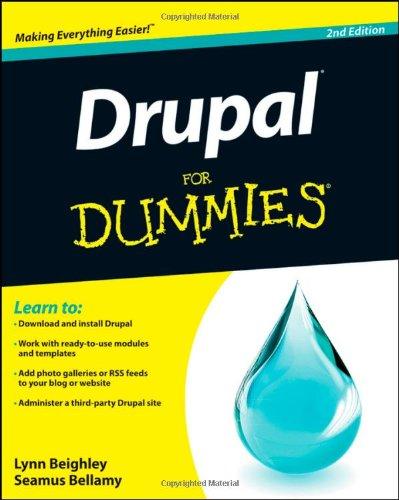 Drupal For Dummies 1118083482 pdf