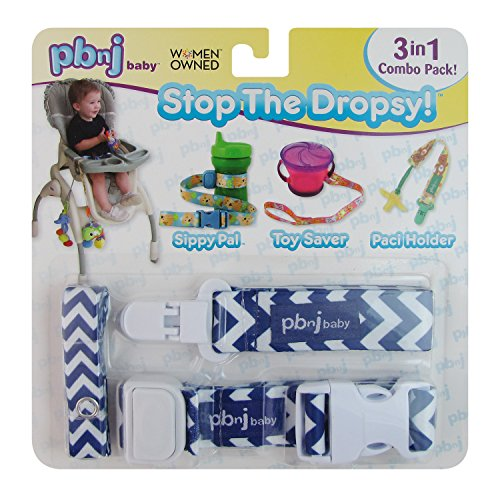 Stop the Dropsy 3-in-1 Combo Pack (Grape Blue & White Chevron)