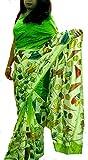 Monash Creations Hand Painted Matka Silk Saree For Woman