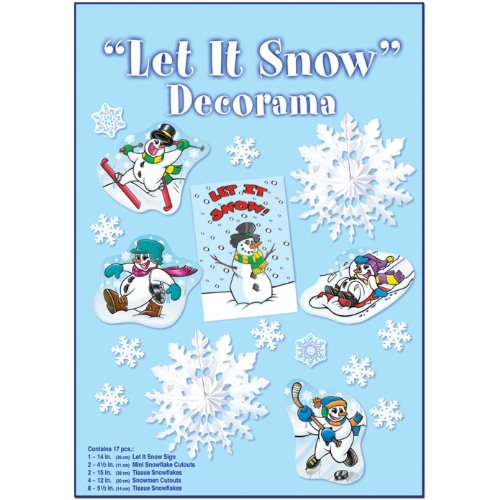 Let it Snow 17 Piece Decorama Kit