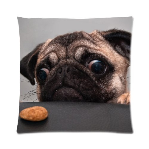Butuku Lovely Pug Baby Dog Custom Personalized Zippered Square Pillow Case 16X16 (One Side) front-833948