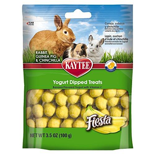 Kaytee Fiesta Banana Flavor Yogurt Dipped Treats for Rabbit, Guinea Pig and Chinchilla, 3.5-oz bag 51O7FeswPiL