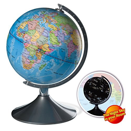 Interactive Globe for Kids, 2 in 1, Day View World Globe and Night View Illuminated Constellation Map (World Map Night compare prices)