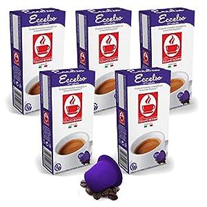 Choose Bonini Coffee Capsules, Eccelso - Nespresso Compatible- 5-Pack (5x10 Capsules) by Caffè Tiziano Bonini