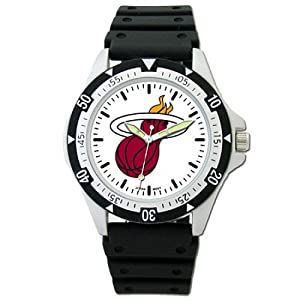 NSNSW22622Q-Mens Miami Heat Options Sports Watch W  Logo by NBA Officially Licensed