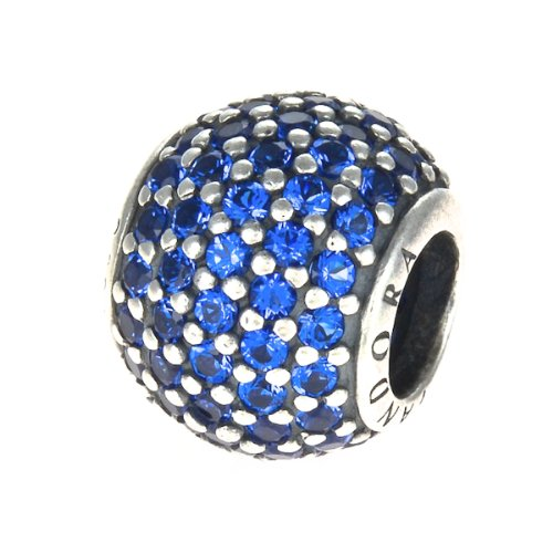 Pandora Sterling Silver Blue Crystal Pave Lights Charm - 791051NCB - Moments Collection