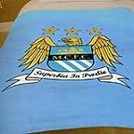 Manchester City FC Fleece Blanket, Bl...