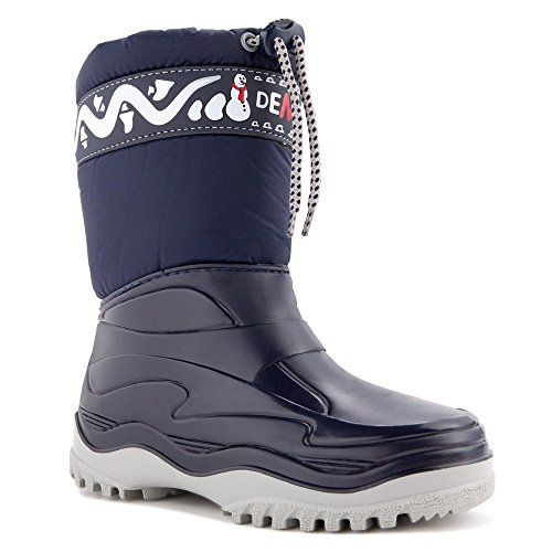 DEMAR Kinder Winterstiefel Schuhe gefüttert FROST (24/25, blau)