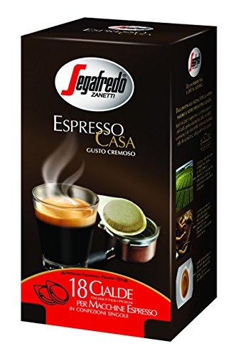 Get SEGAFREDO - ESPRESSO CASA Coffee ESE Pods - 4 x 18 ESE pods (TOTAL = 72 ESE pods) by SEGAFREDO ZANETTI Spa ITALIA