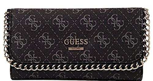 06. GUESS Confidential Chain Slim Wallet Clutch