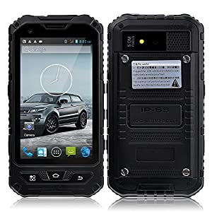 Discovery A8 3G 4 Inch Android 4.2 MTK6572 Dual Core 512MB+4G Dual SIM Dual Standby Dustproof Shockproof and Waterproof Smartphone (Black)