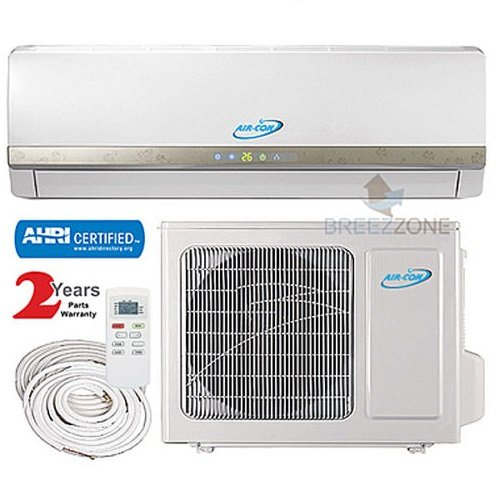 24000 Btu Air-Con DC Inverter Ductless Air Conditioner Heat Pump System 208-230V, 17ft Lines