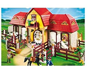 pin playmobil country 5222 ranch avec chevaux on pinterest. Black Bedroom Furniture Sets. Home Design Ideas