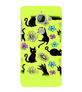PrintVisa Cute Cartoon Cats 3D Hard Polycarbonate Designer Back Case Cover for LeEco Le Max 2