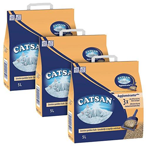 Catsan Agglomérante Plus - Litière pour chat 5L - Lot de 3'