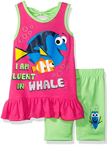 Disney Girls 2 Piece Finding Dory Bike Short Set