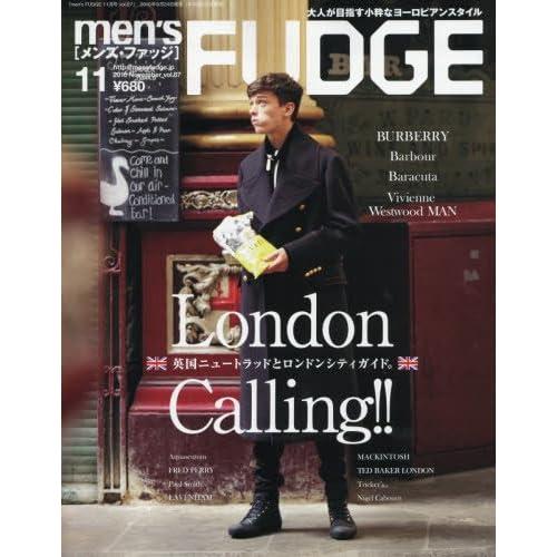 men's FUDGE 2016年 11 月号 (メンズファッジ)