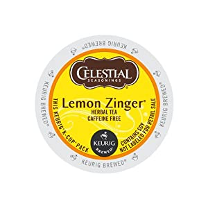 Keurig, Celestial Seasonings, Lemon Zinger Tea, K-Cup packs, 72 Count