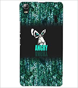 PrintDhaba Angry Face D-4972 Back Case Cover for LENOVO A7000 TURBO (Multi-Coloured)