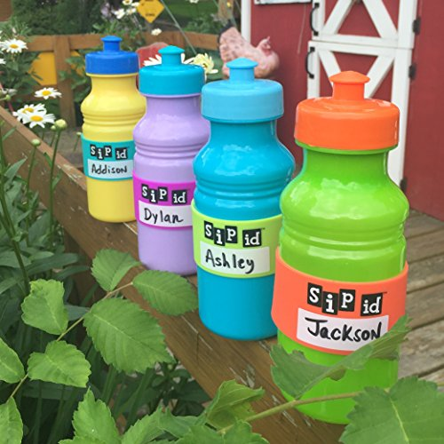 H2O ID Introduces SIP ID 4 BAND MULTICOLOR KIDS PARTY PACK - REUSABLE ID BANDS- PERSONALIZE & LABEL YOUR CHILDS DRINK; WATER BOTTLES, REUSABLE BOTTLES & CUPS, SIPPY CUPS, TRAINER CUPS, BABY BOTTLES