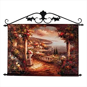 Manual Gulf of Poets Hand Painted Canvas Wall Hanging, 42 X 33-Inch