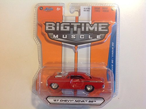 2015 Jada 1:64 Bigtime Muscle '67 Chevy Nova SS Red #014