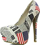 Women's Extreme High Fashion Pointed Toe Hidden Platform Sexy Stiletto High Heel Pump Shoes