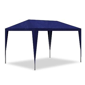 c29a30ed7000d Best price Tonnelle de jardin  Pavillon de Jardin Tente de réception  Chapiteau Bleu 3x3m ...