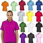 Ladies Pique Polo Shirt Size UK 8 to...