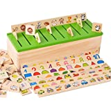 Child Wood Early Learning Box Shape Classification Education Observation Training Toy