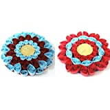 Set Of 2 Hand-Crafted, Quilled Tea Light Holders - B00XT52JKM