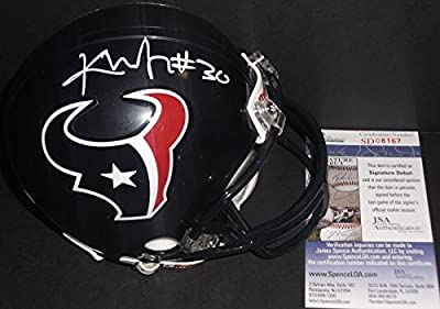 Kevin Johnson Houston Texans Autographed Signed Mini Helmet JSA COA