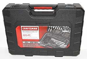 craftsman 220 pc mechanics tool set with case 36220 newest version socket wrenches. Black Bedroom Furniture Sets. Home Design Ideas