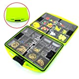 Small!!! 1 Set Carp Catfish Freshwater Fishing Tackle Box Utility Box Hooks Swivels