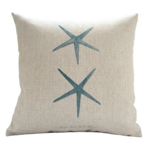 "For Sale! MagicPieces Cotton and Flax Ocean Park Theme Decorative Pillow Cover Case 18"" x 18&qu..."