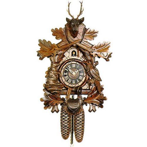 Eight Day Two Weight Live Animal Hunter Style Cuckoo Clock