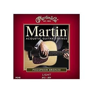 martin m540 phosphor bronze acoustic guitar strings light musical instruments. Black Bedroom Furniture Sets. Home Design Ideas