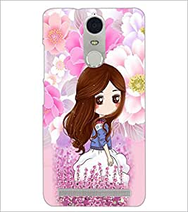 PrintDhaba Cute Girl D-4794 Back Case Cover for LENOVO K5 NOTE (Multi-Coloured)