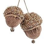 Burlap Pinecones Ornament
