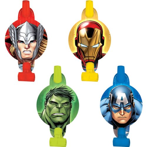 8-Piece Avengers Blowouts, Multicolored