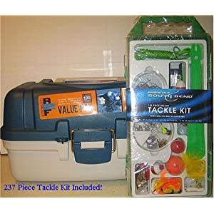 Plano Tackle Box - 2 Trays - 273 Piece Tackle Kit Included!