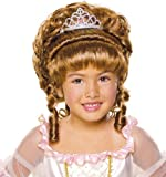 Brown Up-Do Wig with Tiara - Child Std.