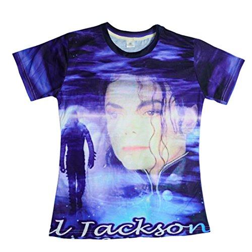 26897ba2f76 Unisex Blue Michael Jackson Shirt Clothing for Women Men Plus Size
