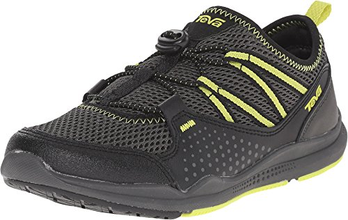 Teva Scamper Water Shoe (Toddler/Little Kid/Big Kid), Black/Grey/Lime-T, 12.5 M US Little Kid