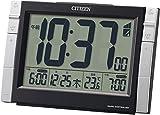 CITIZEN ( シチズン ) 電波 目覚まし 時計 パルデジットワイドDS ブラック 8RZ150-002