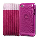 4G Touch Pink Silicone Protective Armour Case + Pink Sock Cover & Scre...