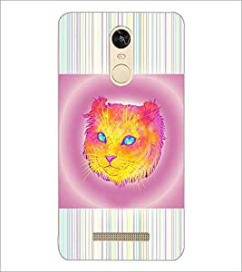 PrintDhaba Cat D-3463 Back Case Cover for XIAOMI REDMI NOTE 3 PRO (Multi-Coloured)
