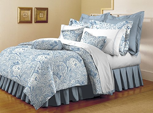 Mellanni Bed Sheet Set - HIGHEST QUALITY Brushed Microfiber 1800 Bedding - Wrinkle, Fade, Stain Resistant - Hypoallergenic - 4 Piece (Full, Paisley Blue) (Adult Bed Sheets compare prices)
