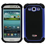 Bayke Brand for Samsung Galaxy S3 SIII i9300 Two Layer Armored Hybrid Cover Case with Inner Soft Shell (Blue)